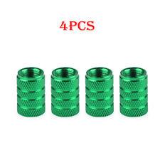 4pcs Green Aluminum Piston Tire Rim Valve Wheel Air Port Dust Covers Stem Cap