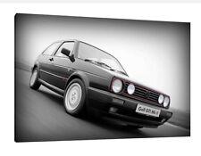 VW Golf Mk2 - 30x20 Inch Canvas Art - Volkswagen Framed Picture Print