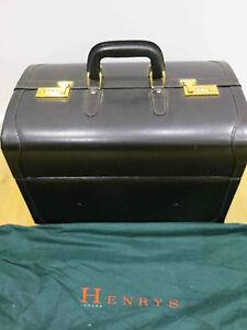 Henrys London Gentlemen's Luxury Leather Travel Case Gladstone Reduced again 