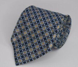 * Ermenegildo Zegna pour Patek Philippe * Blue & Gold Check 100% Silk Necktie