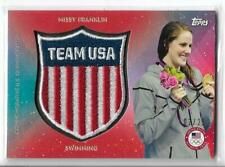 RARE 2016 TOPPS OLYMPIC MISSY FRANKLIN RED TEAM CREST PATCH CARD ~ /25  SWIMMING