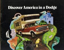 1973 Dodge Discover America Campers Pickups Motor Homes Vans Sales Brochure