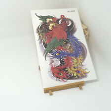 Colorful Temporary Tattoo Stickers Body Art Waterproof Phoenix Bird quill