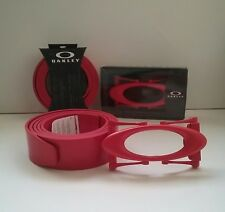 New OAKLEY ICON O Red Line Leather Belt & Metal Buckle for golf sunglasses watch