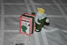 Babar Figurine Trinket Box Midwest of Cannon Falls Book opens Photo holder Nib