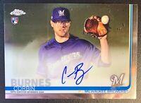 2019 Topps Chrome CORBIN BURNES Autograph Rookie #RA-CB Milwaukee Brewers
