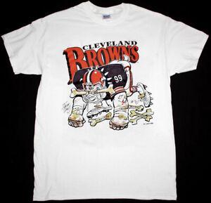Cleveland Browns Football NFL T-Shirt White Unisex Vintage Reprint S-5XL TK4252