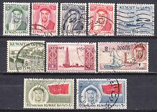 KUWAIT 1959-60 DEFINITIVE AND SHEIK ABDULLAH SET TO 2r SCOTT 140/154 USED