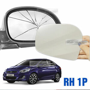 Replacement Side Mirror RH 1P + Adhesive for HYUNDAI 2011-17 Verna / Accent