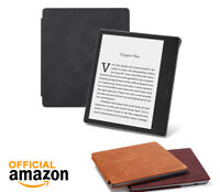 AMAZON KINDLE OASIS PREMIUM LEATHER BLACK TAN STANDING COVER CASE 9TH GEN