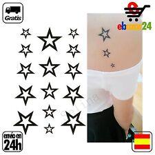 TATTOO ESTRELLA estrellas tatuaje temporal pegatina tatu tatoo *Envío GRATIS des