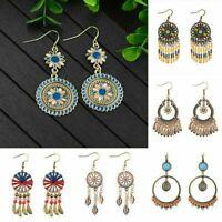 Women Boho Long Tassel Fringe Earrings Drop Dangle Ear Stud Fashion Jewelry Gift