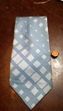 Vintage Blue On Blue Texture 1970 Wide Lds Mens Necktie Free Shipping