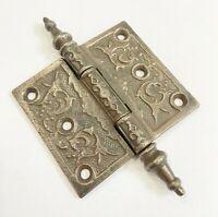 "Antique 3"" x 3 1/2"" Steeple Cast Iron Door Hinge Architectural Salvage Hardware"