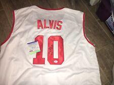Max Alvis 2x AL Allstar Cleveland Indians Signed  Jersey PSA DNA