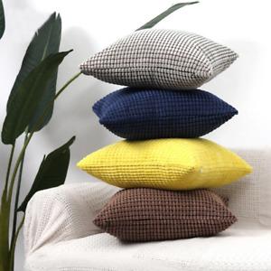 "Granular Super Soft Plush Solid Pillow 18"" x 18"" For Cushion Sofa"