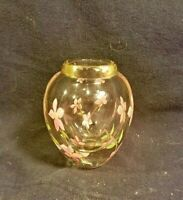 Art Glass Blown Floral Paperweight Vase - Beautiful and Heavy!!!!