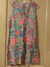 Lilly Pulitzer KELBY STRETCH DRESS SERENE BLUE GYPSEA SIZE 10 PINK NWT