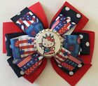 Fourth Of July Independence Day Hello Kitty Inspired Girls Hair Bow Barrette