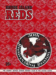 1956-57 Providence Reds vs Springfield Indians AHL Hockey Program- Beauty! #FWIL