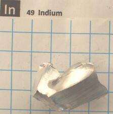 43.51 gram 1.53 Oz Indium metal nugget 99.8% #11 element 49 sample