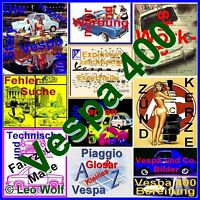 Piaggio Vespa400/Vespa 400 Reparaturanleitung,Wartungsanleitung,Bedienungsanlei