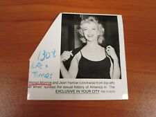 Vintage Glossy Press Photo Actress Marilyn Monroe in The Exclusive in Your City