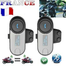 2Pcs 800m Bluetooth Intercom Moto Interphone Casque FM Freedconn LCD Headest Kit