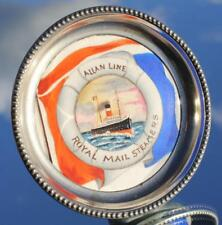 ALLAN LINE ROYAL MAIL STEAMERS CERAMIC & PLATED PIN DISH SOLD ONBOARD C-1900'S