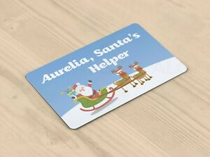 Personalised Christmas / Xmas Santa's Helper Card for Children - Made in Britain