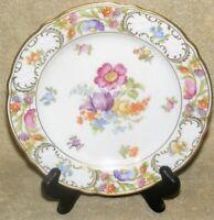 """Schumann Bavaria Empress Dresden Flowers 7 3/4"""" Salad Plate"""