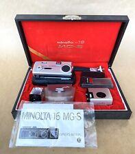 Minolta 16 MG-S Sub-Miniature Spy Camera Kit, Vintage, Complete, NICE!
