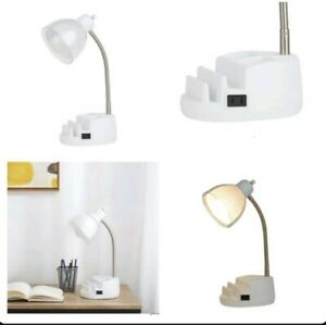 Flexible Table Desk Reading Lamp Study Multi-Purpose Organizer Pencils Holder