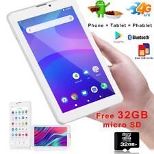"Stylish 2-in-1 Tablet PC + Unlocked 4G LTE Phone 7"" Touch Screen Android 9.0 Pie"