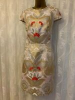 Ted Baker Islaay Opulent Oriental Bloom Jacquard Floral Ascot Party Dress 14 42