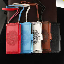 Retro Leather Flip Wallet Phone Case Cover for iPhone 6 7 Samsung Huawei Sony