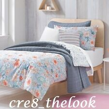 SHERIDAN JUNIOR POSIE CHAMBRAY DOUBLE QUILT COVER SET - FULLY REVERSIBLE
