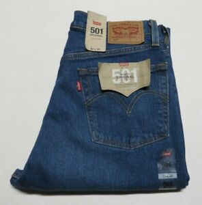 Women's Levi's 501 Button Fly Jeans High Rise Straight Leg Size 30 x 30 Blue Nwt