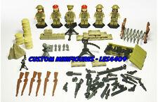 6pc Army | Military | SWAT | WWII Soldier Custom Minifigure + FREE LEGO BRICK UK