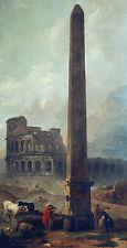 Coliseum and the Lateran Obelisque Hubert Robert OBELISCO ROMA Antico B a3 02294