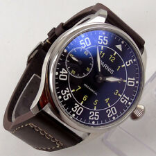c0129666d48 44mm PARNIS black dial luminous 6497 movement hand winding Mechanical mens  Watch