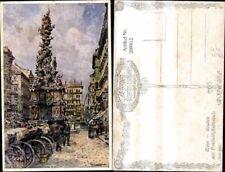 209412,Künstler Ak E. Graner Graben m. Dreifaltigkeitssäule