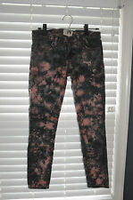 CURRENT/ELLIOT 'The Stilleto Cosmic' Pink Grey Skinny Jeans, Sz 26, GUC