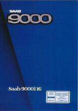 Saab 9000i 16 1985/86 Original UK Sales Brochure Pub. No. 222604