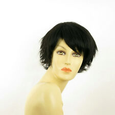 Perruque femme courte brun foncé ROMANE 2