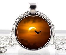 De Solor Eclipse Collar-Sol Colgante-Luna Collar Bird Joyas Regalos Para Ella