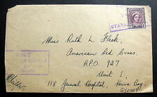 AUSTRALIA WWII CANCEL ELC6 STATION 1944 PASSED CENSOR