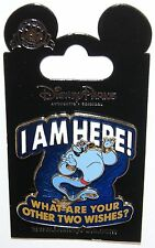 "Disney Genie "" I Am Here! What Are Your Other Two Wishes?"" Aladdin 3D PIN ON PIN"