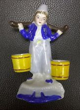 """Occupied Japan WATERBOY w/BUCKETS porcelain/china 4-1/4"""" toothpick holder? 022"""