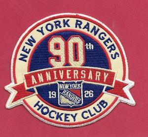 New New York Rangers 90 Seasons 4 X 4 1/2 Iron on Patch Free Shipping